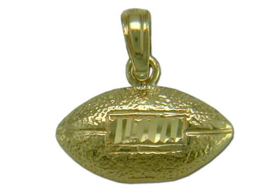 Football with Laces 14 kt Gold Pendant