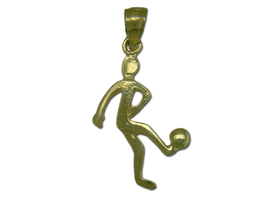 Soccer Player 14 kt Gold Small Pendant