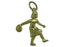 Women Bowler 14 kt gold Small Pendant