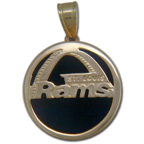 Los Angeles Rams charm (ONYX)