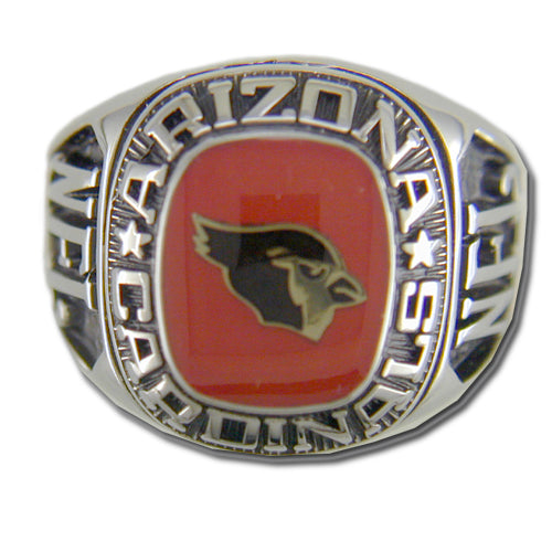 Arizona Cardinals Large Classic Silvertone Ring