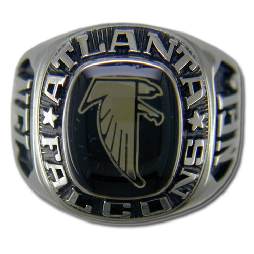 Atlanta Falcons Large Classic Silvertone Ring