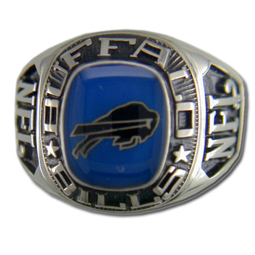 Buffalo Bills Large Classic Silvertone NFL Ring