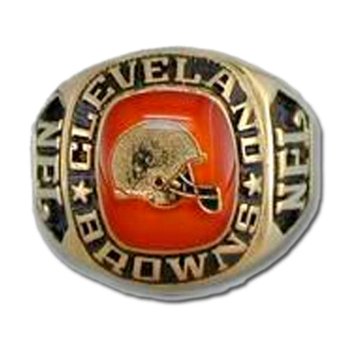Cleveland Browns Large Classic Goldplated NFL Ring