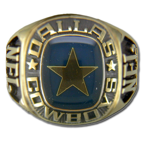 Dallas Cowboys Large Classic Goldplated Ring