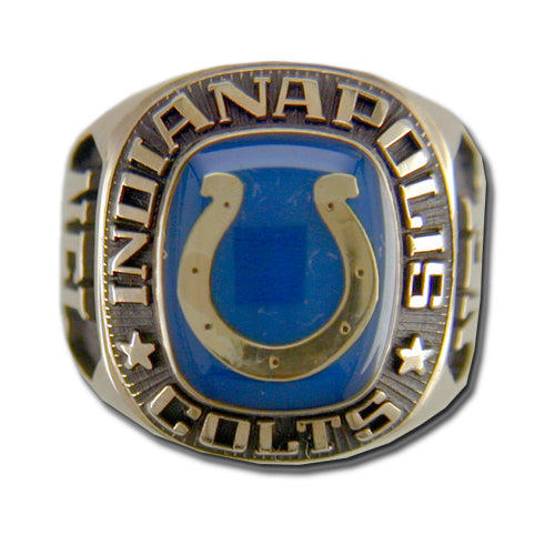 Indianapolis Colts Large Classic Goldplated NFL Ring