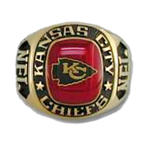 Kansas City Chiefs Large Classic Goldplated NFL Ring