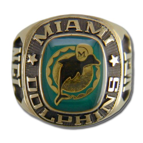 Miami Dolphins Large Classic Goldplated Ring