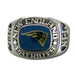 New England Patriots Large Classic Silvertone NFL Ring