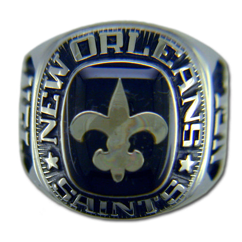 New Orleans Saints Large Classic Silvertone Ring