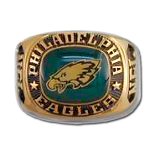 Philadelphia Eagles Large Classic Goldplated Ring