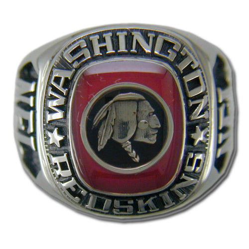 Washington Redskins Large Classic Silvertone NFL Ring
