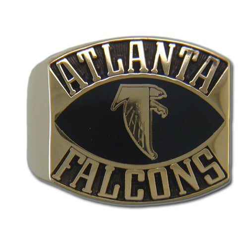 Atlanta Falcons Contemporary Style Goldplated Ring