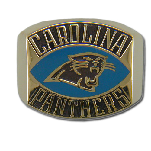 Carolina Panthers Contemporary Style Goldplated NFL Ring