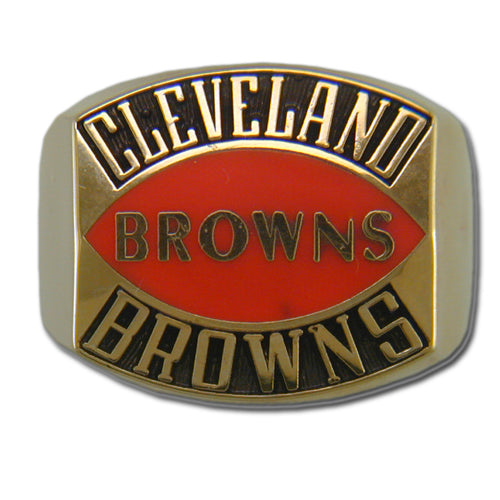 Cleveland Browns Contemporary Style Goldplated NFL Ring