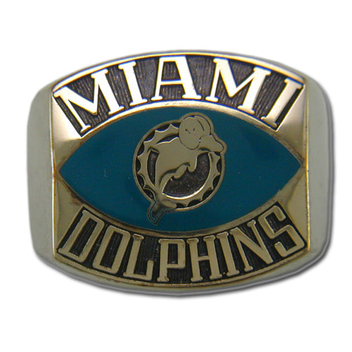 Miami Dolphins Contemporary Style Goldplated Ring