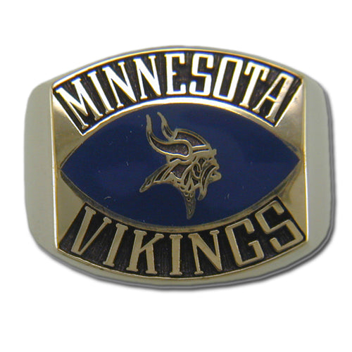 Minnesota Vikings Contemporary Style Goldplated Ring