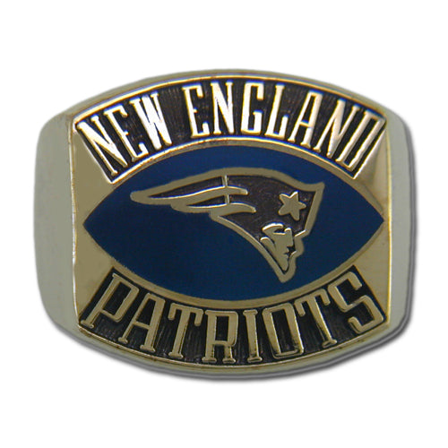 New England Patriots Contemporary Style Goldplated Ring