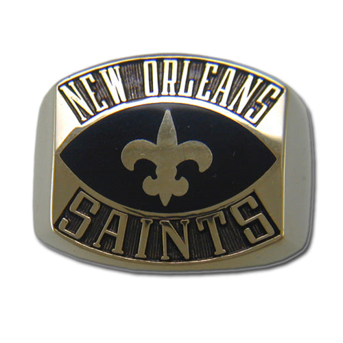 New Orleans Saints Contemporary Style Goldplated Ring