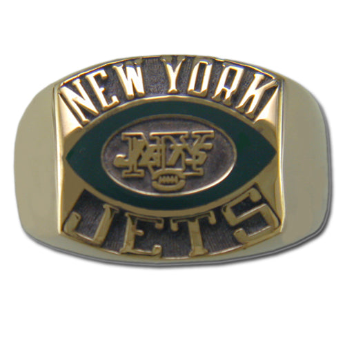 New York Jets Contemporary Style Goldplated NFL Ring