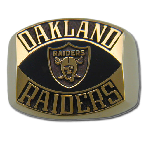Oakland Raiders Contemporary Style Goldplated Ring