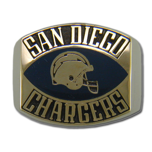 San Diego Chargers Contemporary Style Goldplated Ring