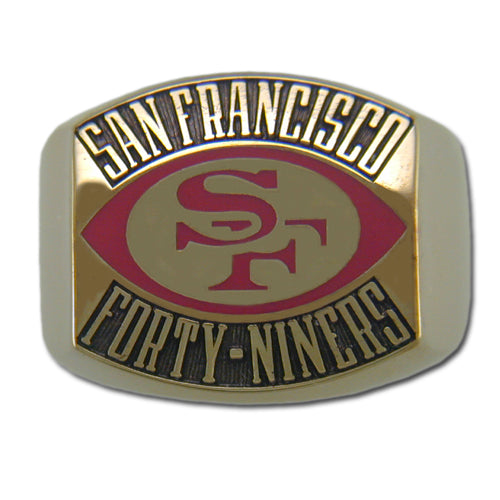 San Francisco 49ers Contemporary Style Goldplated Ring