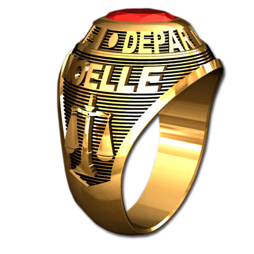 Ladies Traditional Firefighter Ring