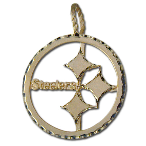 Pittsburgh Steelers Logo (large) 14 kt Gold Pendant