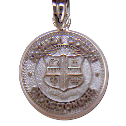 Georgetown College Seal Silver Pendant