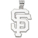 "San Francisco Giants ""SF"" Giant Silver Pendant"