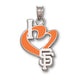 "San Francisco Giants I Heart ""SF"" Silver Pendant"