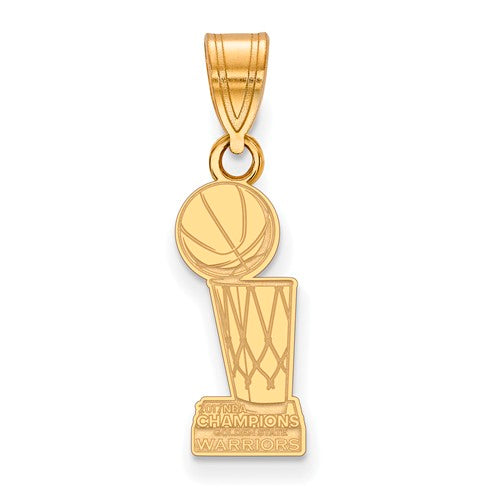 SS GP LogoArt 2017 NBA Championship Warriors Medium Pendant