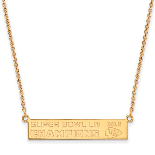 GP Kansas City Chiefs Super Bowl LIV Champions Bar Necklace