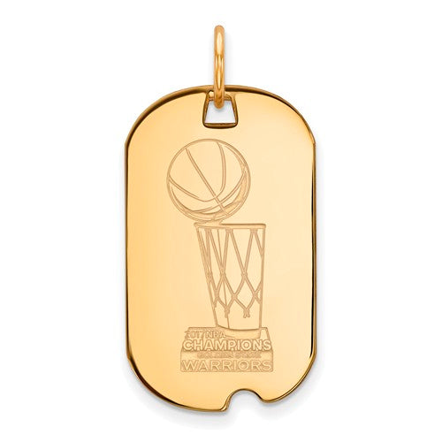SS GP LogoArt 2017 NBA Championship Warriors Small Dog Tag