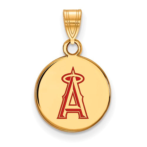 SS w/GP MLB  Los Angeles Angels Small Enamel Disc Pendant