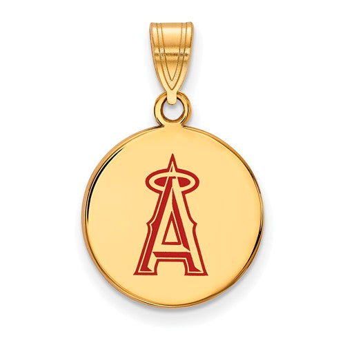 SS w/GP MLB  Los Angeles Angels Medium Enamel Disc Pendant