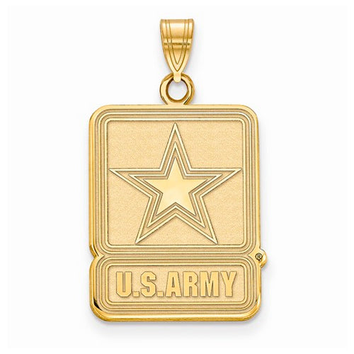 GP Sterling Silver Small United States Army Logo Pendant
