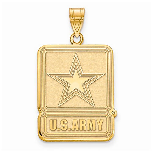 GP Sterling Silver Medium United States Army Logo Pendant