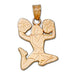 Jumping Cheerleader 14 kt gold Pendant