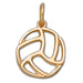 Volleyball 14 kt gold XS Pendant