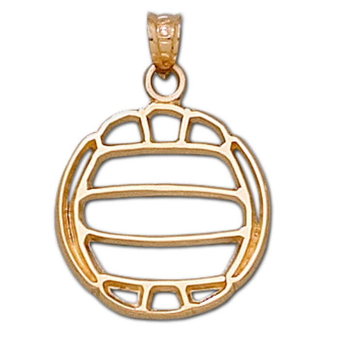 Pierced Volleyball 10 kt gold Large Pendant