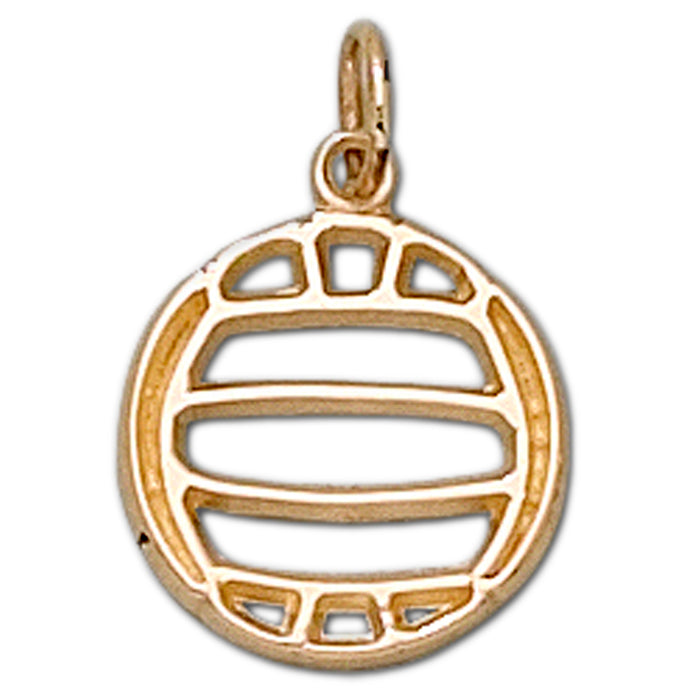 Pierced Volleyball 14 kt gold Medium Pendant