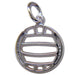 Pierced Volleyball Sterling Silver Medium Pendant
