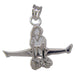 Cheerleader Pike Jump Poms Sterling Silver Pendant