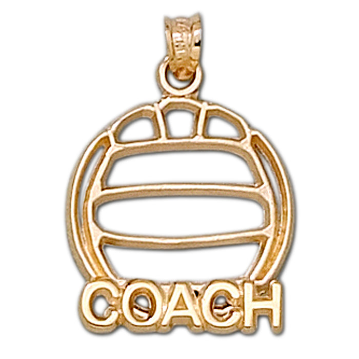 Pierced volleyball with COACH 10 kt gold Large Pendant