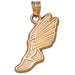Track Winged Foot 10 kt gold Pendant