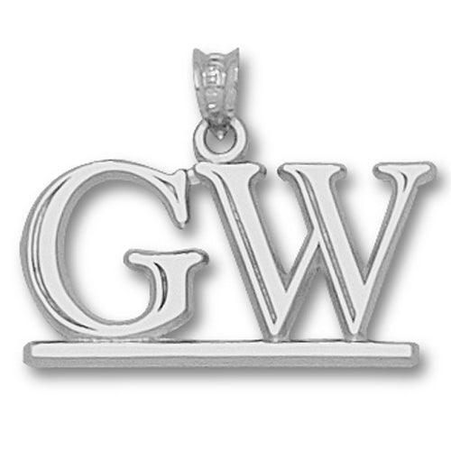 George Washington University GW Silver Pendant
