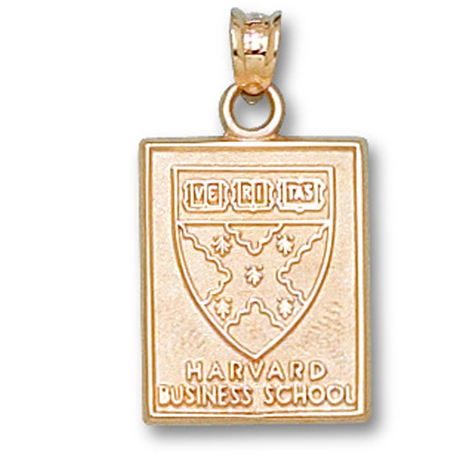 Harvard Business School Square SHIELD 14 kt Gold Pendant