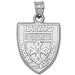 Harvard Public Health School Shield Silver Pendant